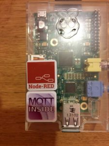 Node-RED sticker deployed
